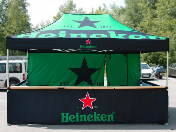 Heineken bar pop up telt fra Ziwes Eye-Catching