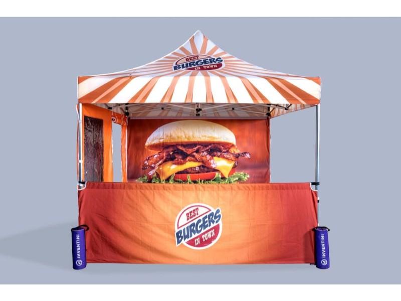 Popup telt med logo_ziwes eye-catching