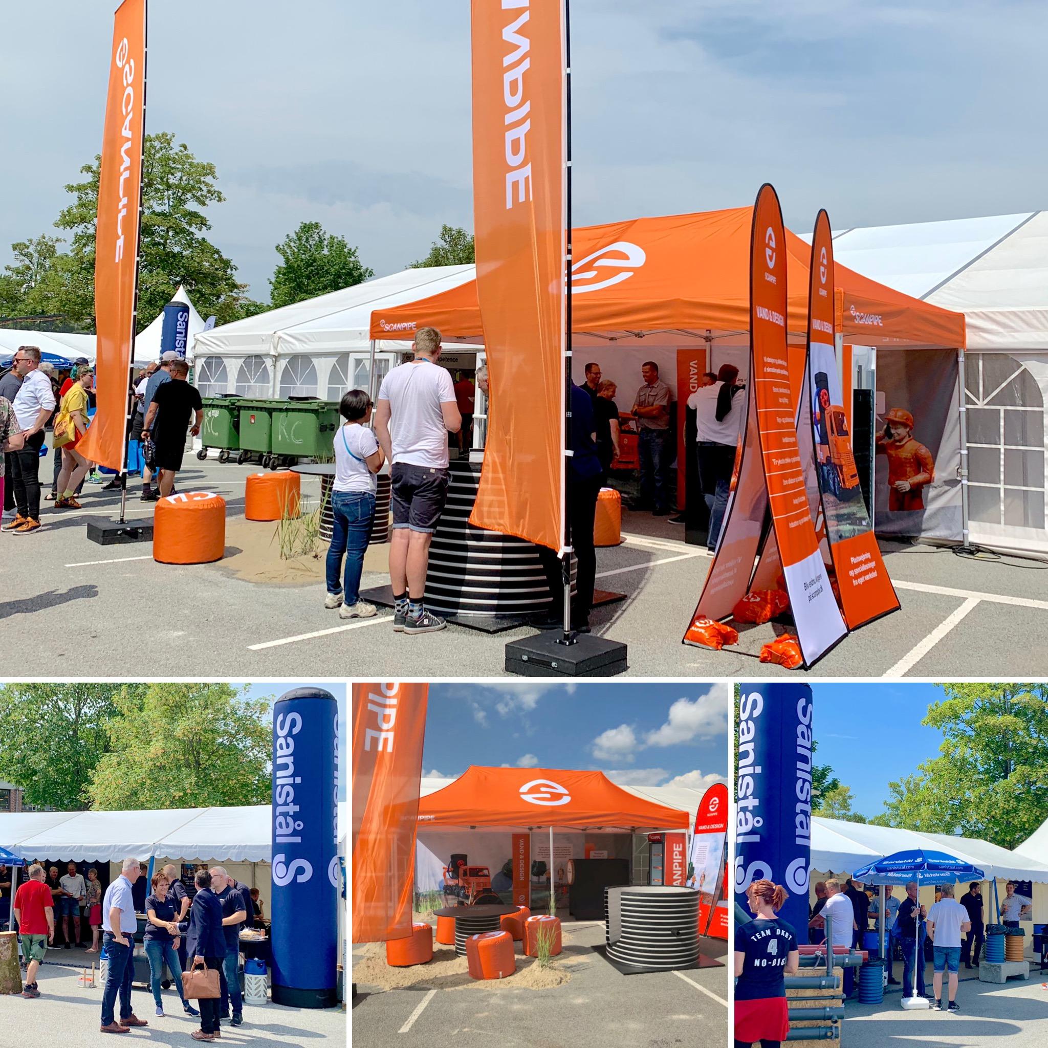 Pop up telt med logo_søjle med logo_eventmøbler med logo_Ziwes Eye-Catching