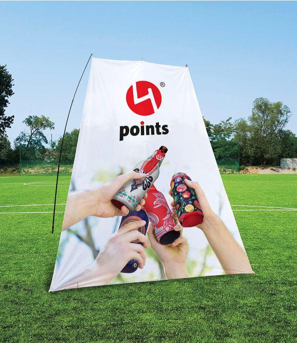 Reklame sejl med print