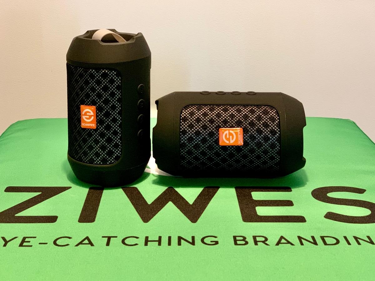 Bluetooth højtaler med ScanPipe logo